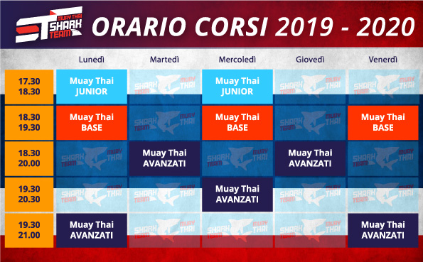 Muay Thai Milano - Orario Corsi 2019 2020